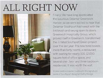 Sage Design featured in Westport magazine